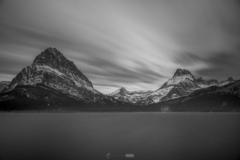 Swiftcurrent Lake B&W 102417.jpg