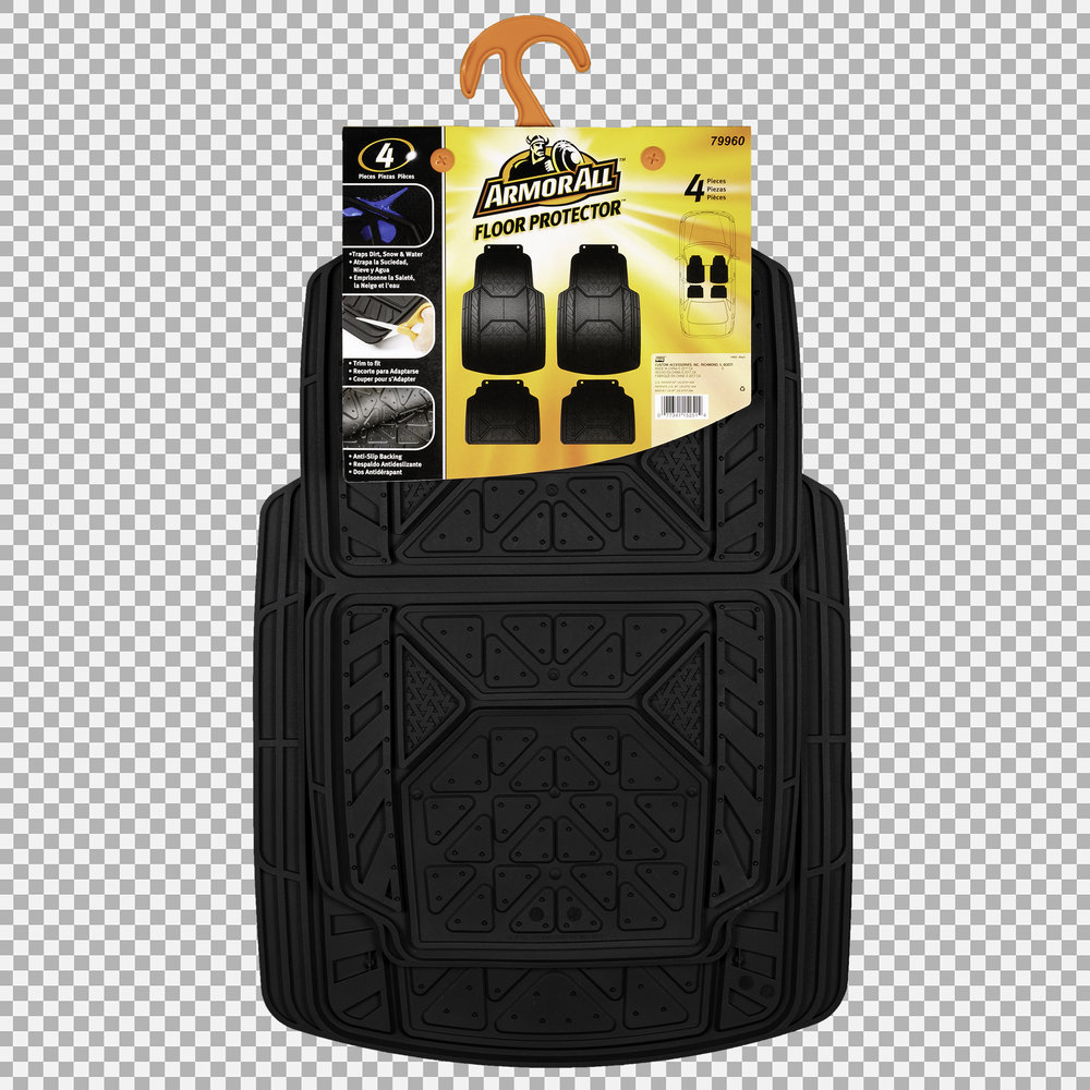 Armor All Floor Mats - Packaging Front (Transparent Background)