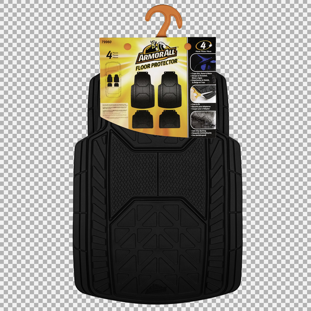 Armor All Floor Mats - Packaging Back (Transparent Background)