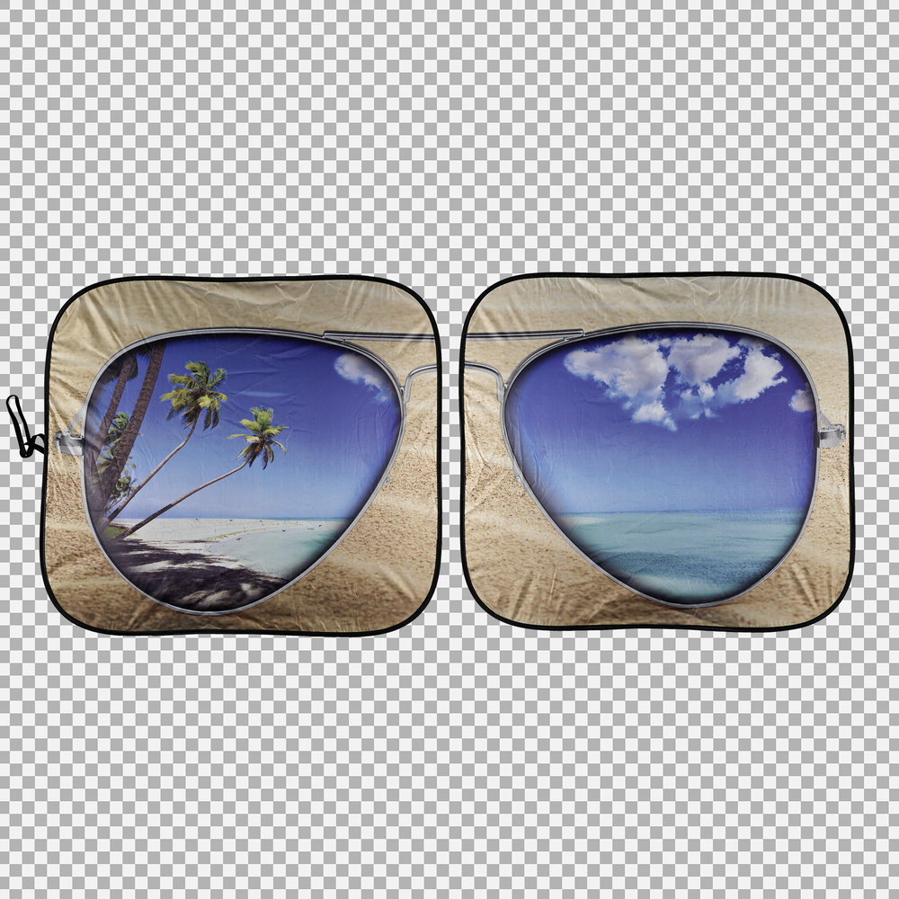 Beach Bum Solar Shield - Pair (Transparent Background)