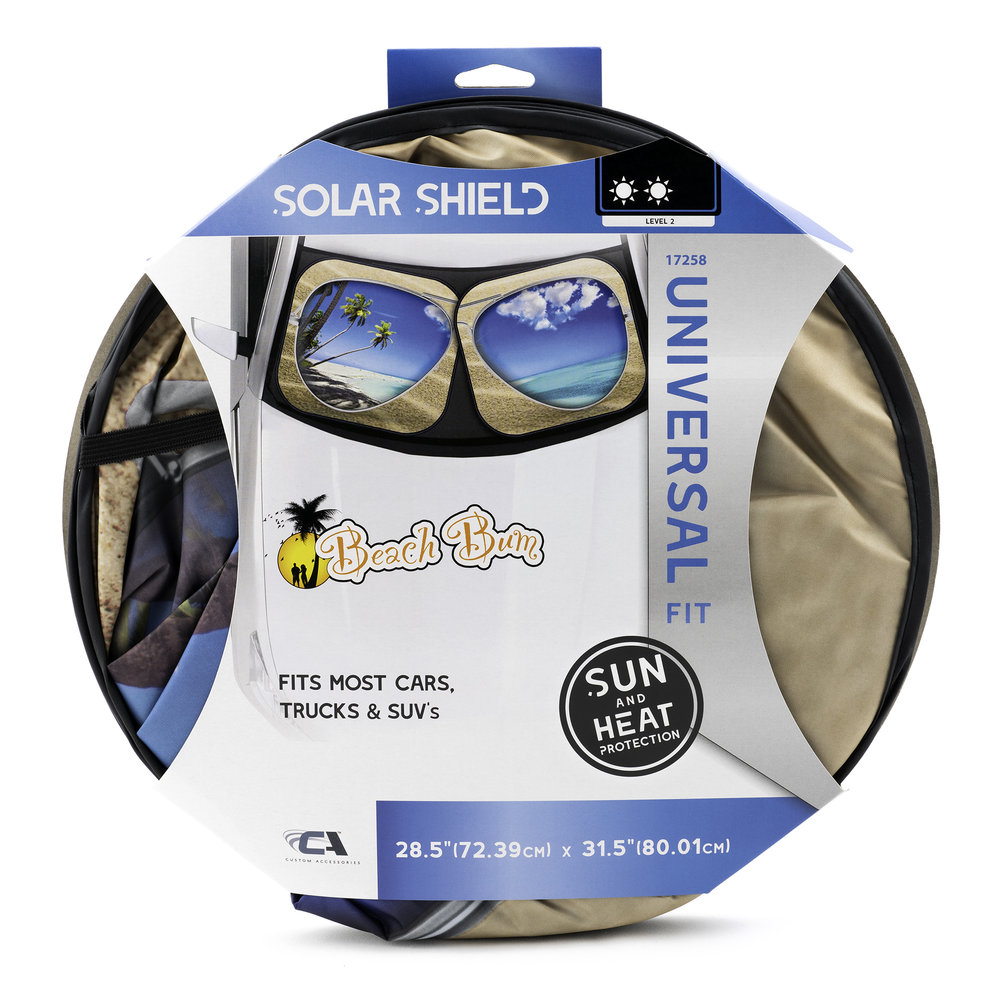 Beach Bum Solar Shield - Pair Packaging Front with Soft Shadow