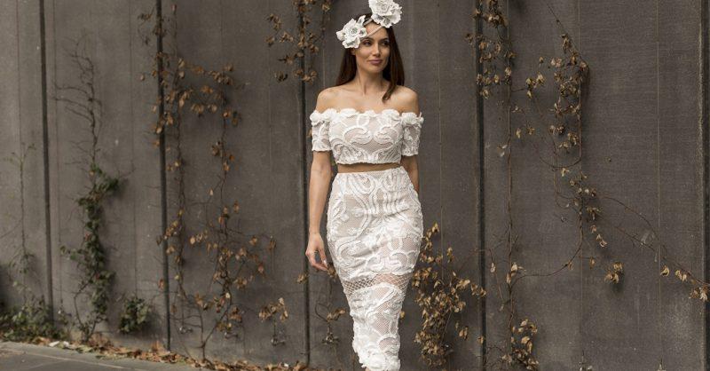 Headpiece | Melbourne designer Odessa Millinery Lace Set | ASILIO Shoes | Tony Bianco
