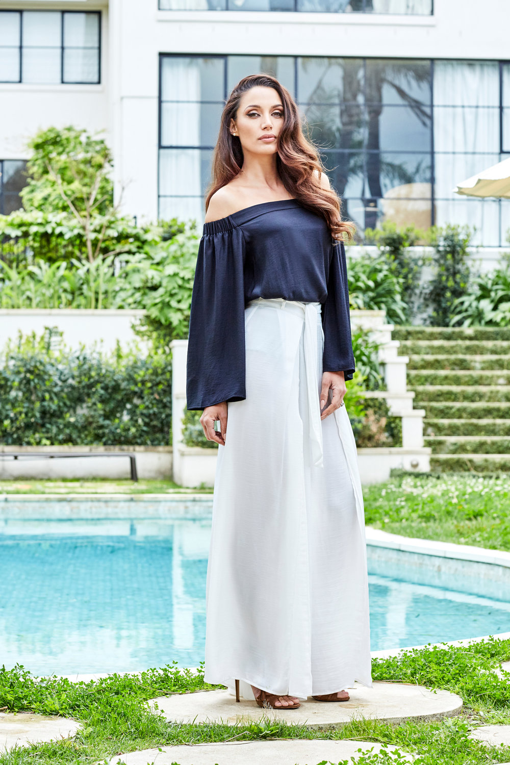 Eve Top in black $119.95 | Eve Pant in white $149.95  This outfit is perfect for Christmas functions or barbecues on a hot Summer's afternoon.