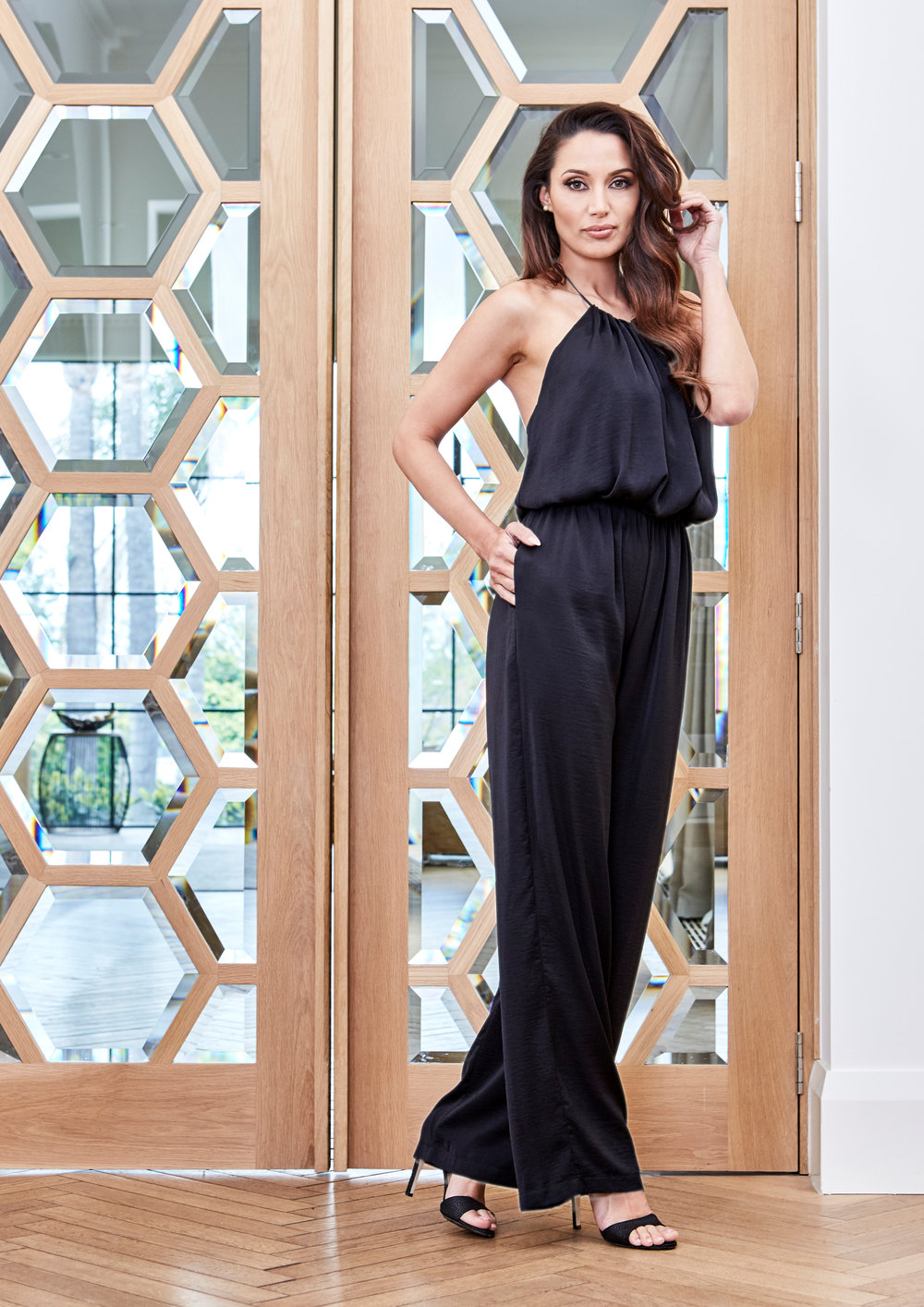 My favourite piece from this collection is this flowing jumpsuit. The silky fabric, flowing silhouette and cinched waist were inspired by Italian poolside-chic. The pockets make it functional too which I adore. Ana jumpsuit in black $149.95