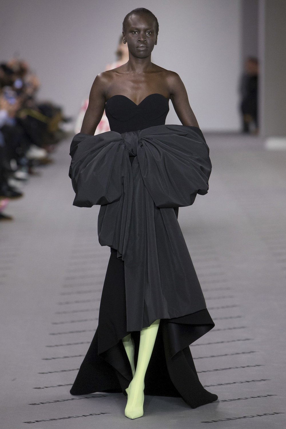Love this classic look at Balenciaga, the perfect amount of drama.