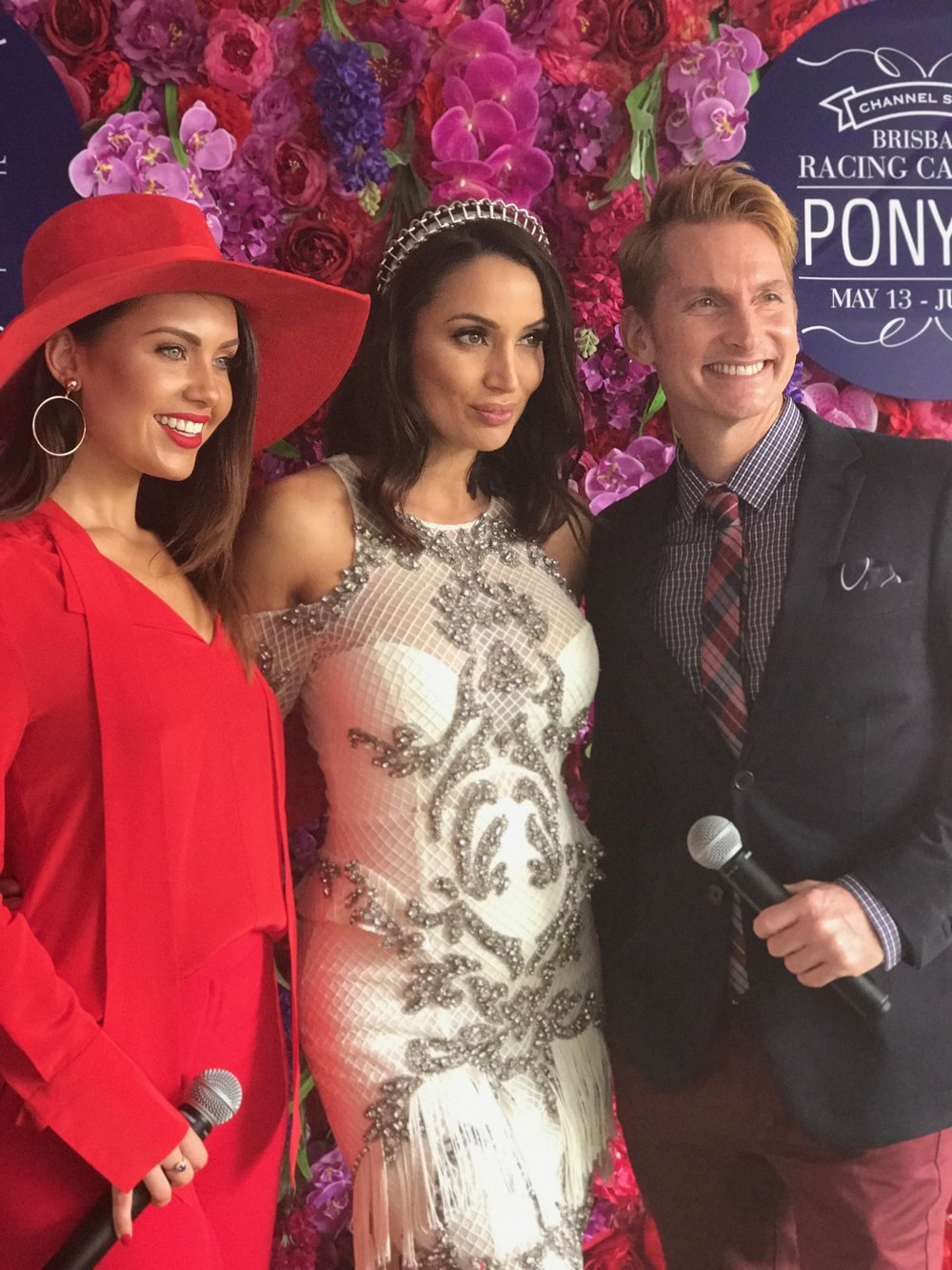 I judged the fashions on the field with the help of these beautiful people, Courtney Thorpe & Damien Rossie.