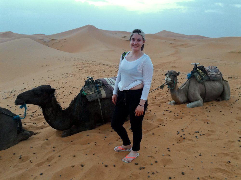 Surrounded by camel poop