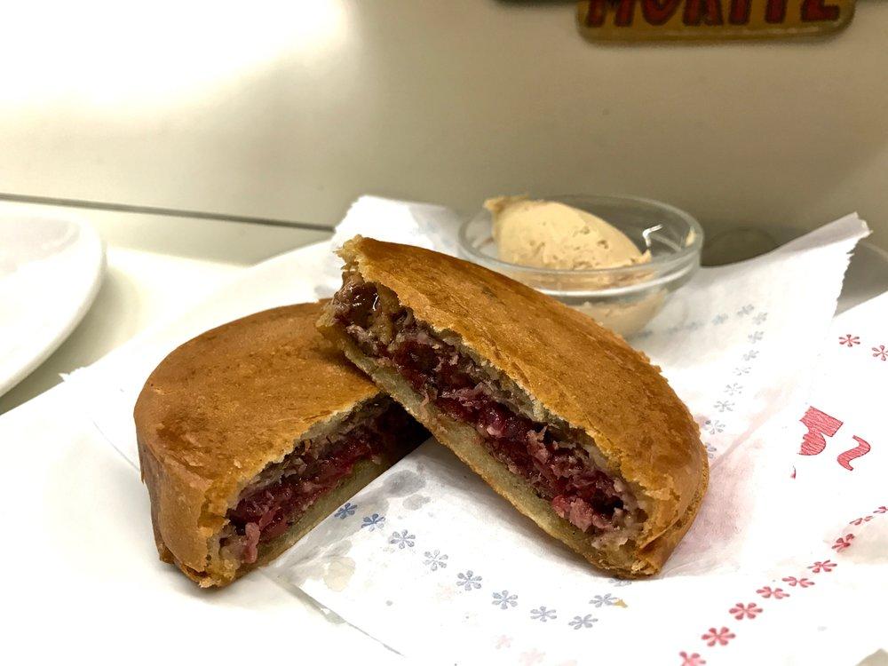 Tapas 24 McFoie Burger (the bowl of foie gras on the side)