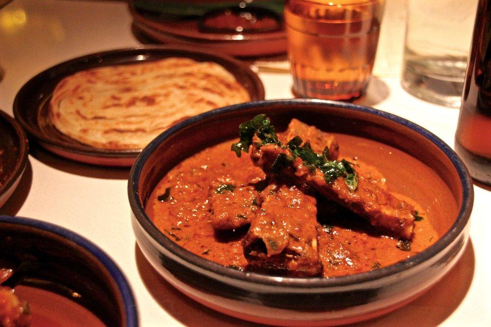 Bone Marrow Varuval with Roti