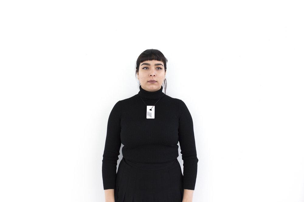 Ceramic, Organic Leather  Model: Amy Hixson