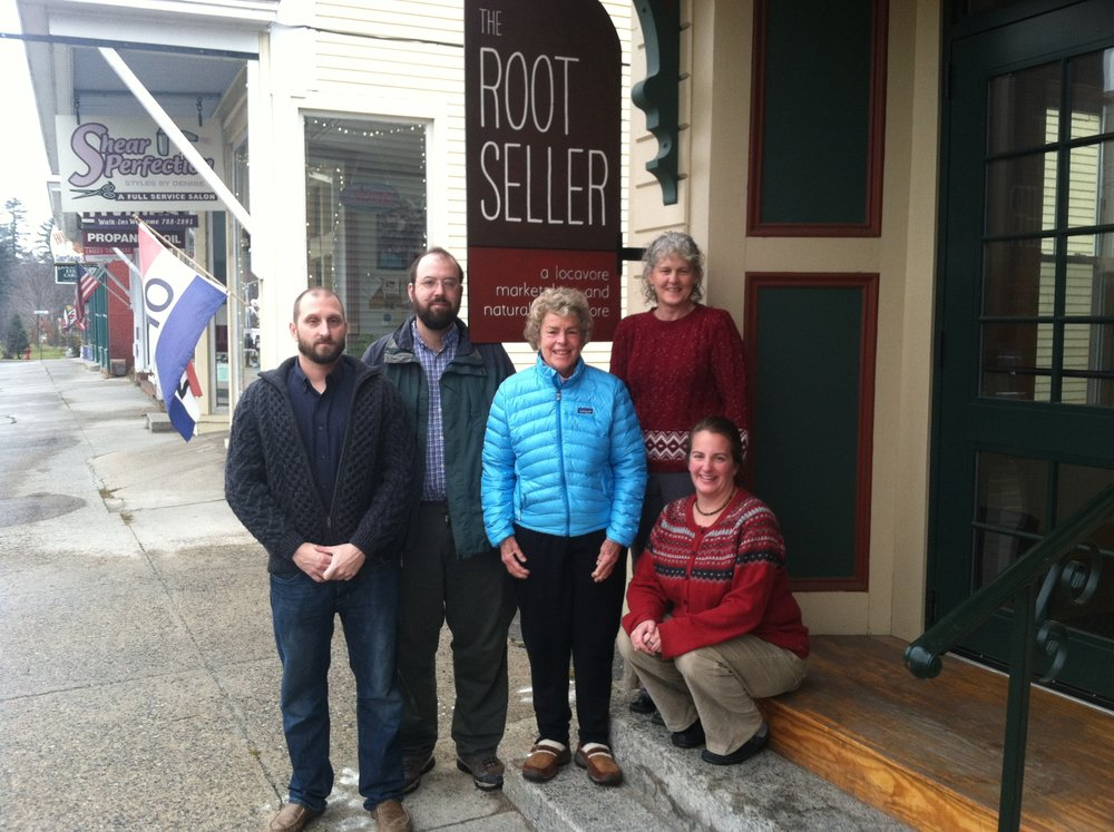 L/R - Our founding board members, Leo, Kyle, Winnie, Kris, and Melissa a few weeks prior to the opening of the Root Seller!
