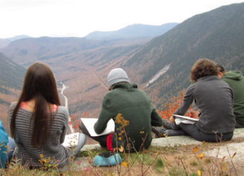 My 9th grade students from the Central Vermont High School Initiative on top of Mt. Willard at the end of our Geology block for which we spent 5 days in the White Mountains.