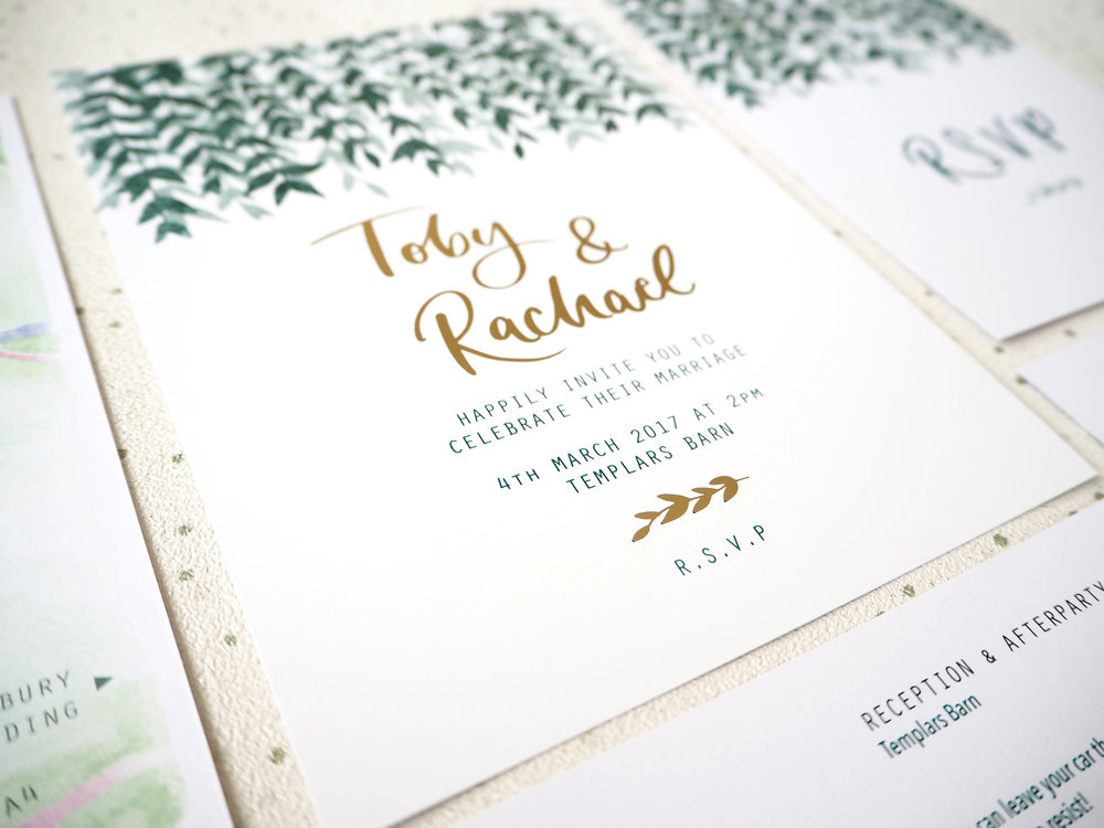 BESPOKE - Our bespoke design services start at £300. This includes design of our invitation bundle set of three pieces; Invitation, R.S.V.P and Info Card. Single or additional pieces are currently quoted separately. Please enquire for a more details and we can supply you with an estimate to suit your requirements.