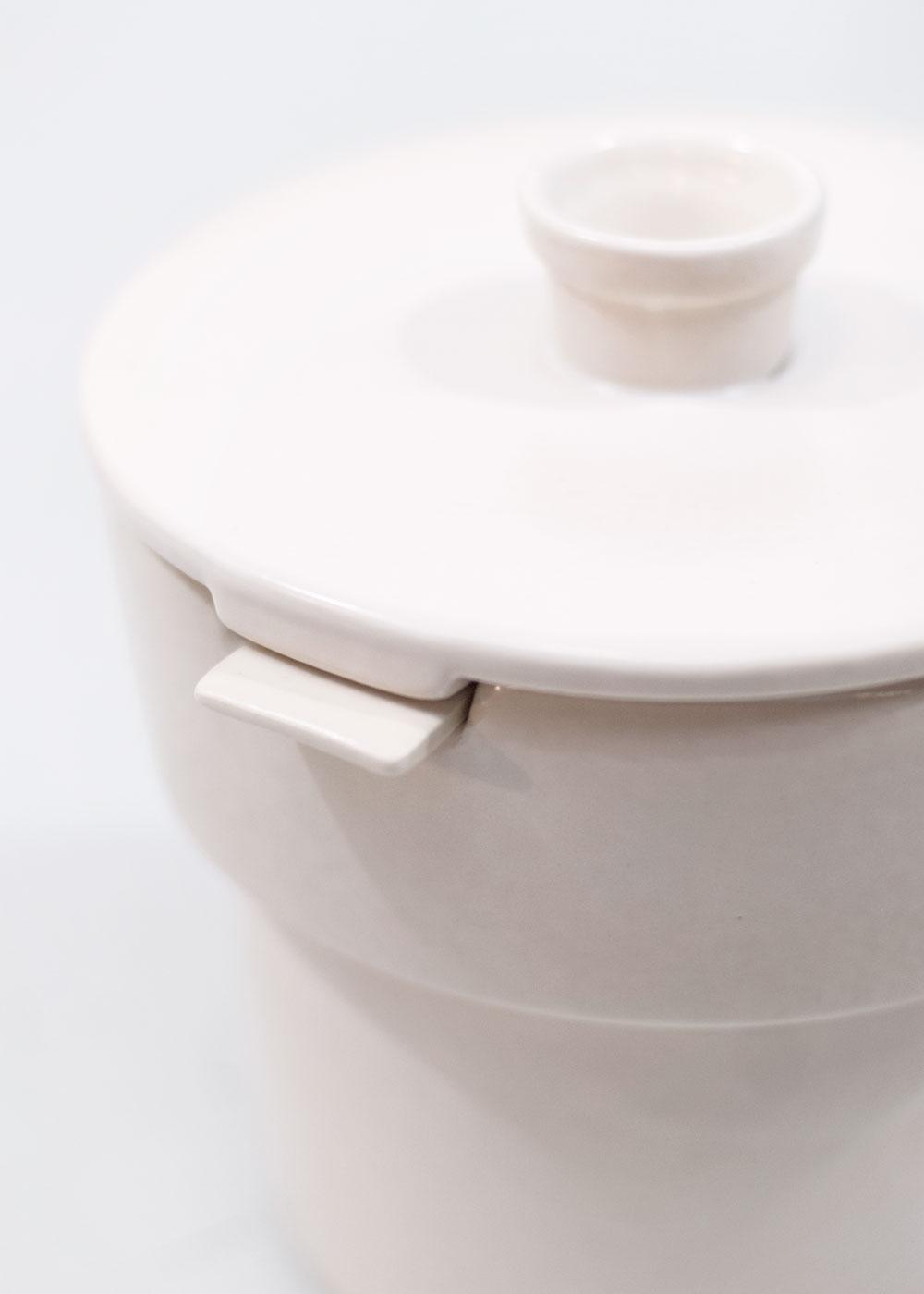 Bouchée double pot blanc cassé