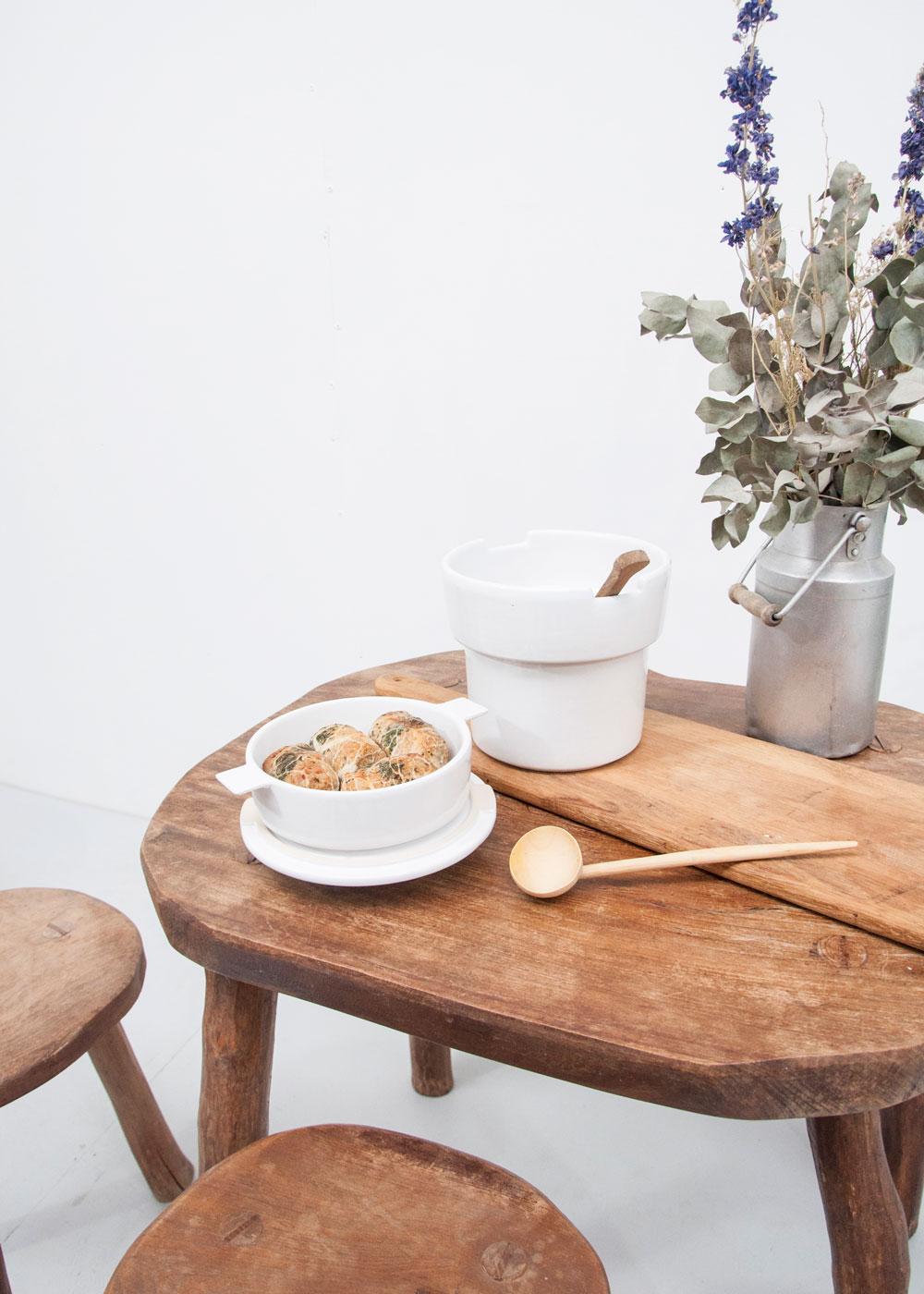 Bouchée double pot blanc pur