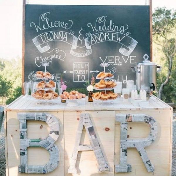Wedding breakfast buffet