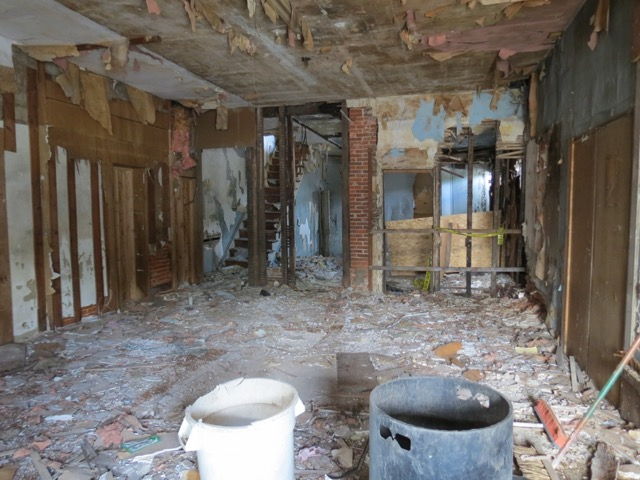 Original condition before reconstruction of the Nick Virgilio Writers House (Interior).