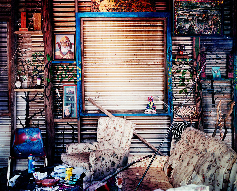 - John's Shed -  Medium:  Lambda print  Edition:  2/6    plus 2 artist's    D:  109 x 134 cm / 43 x 53 in (framed)