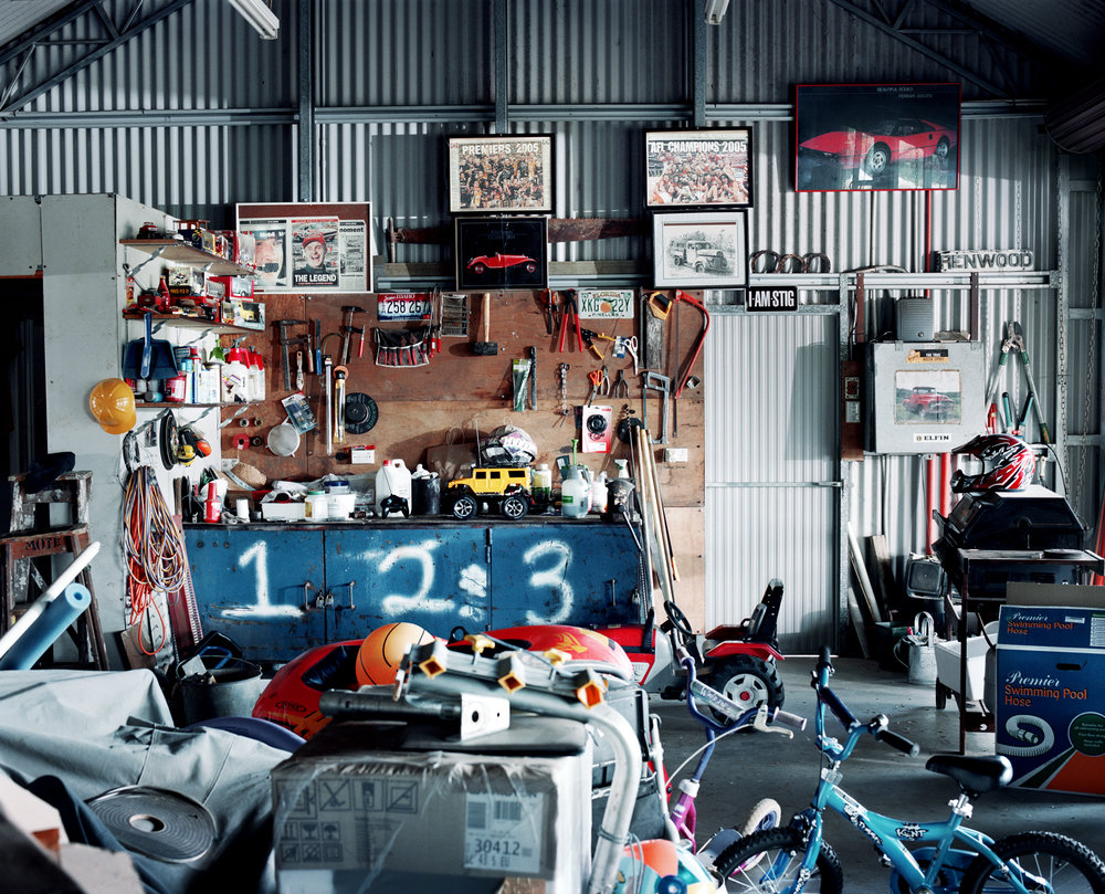 - Stig's Shed -  Medium:  Lambda print  Edition:  2/6    plus 2 artist's    D:  109 x 134 cm / 43 x 53 in (framed)