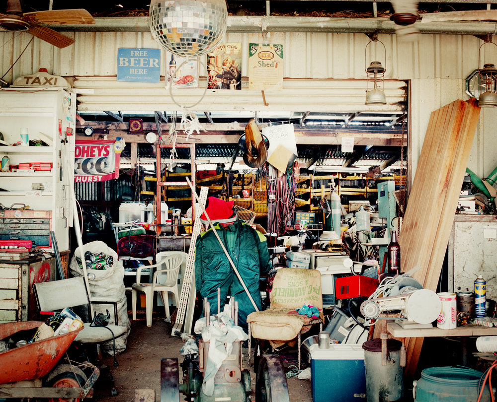 - Tommy's Shed -  Medium:  Lambda print  Edition:  2/6    plus 2 artist's    D:  109 x 134 cm / 43 x 53 in (framed)