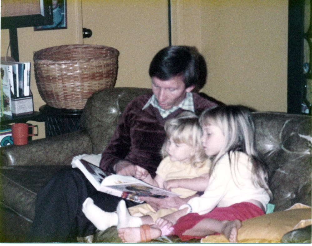 Dad reading to my sister and I - 1980 something