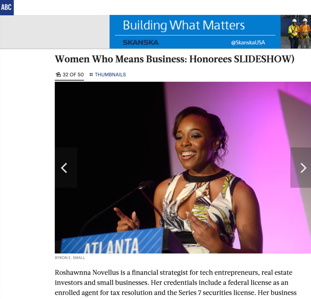 Atlanta Business Chronicle, Women Who Mean Business