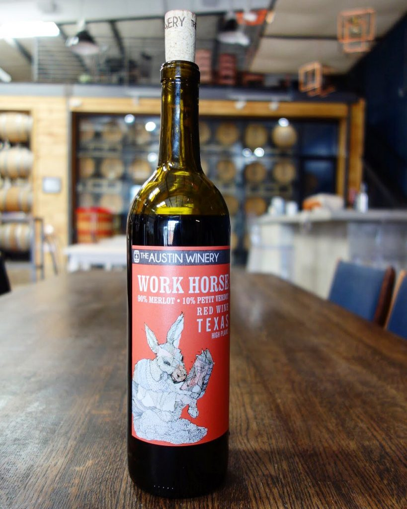 Work Horse, The Austin Winery team's current favorite (Credit:  Susannah Haddad )