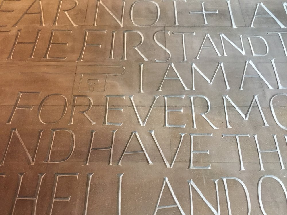 coventry cathedral interior stone artwork