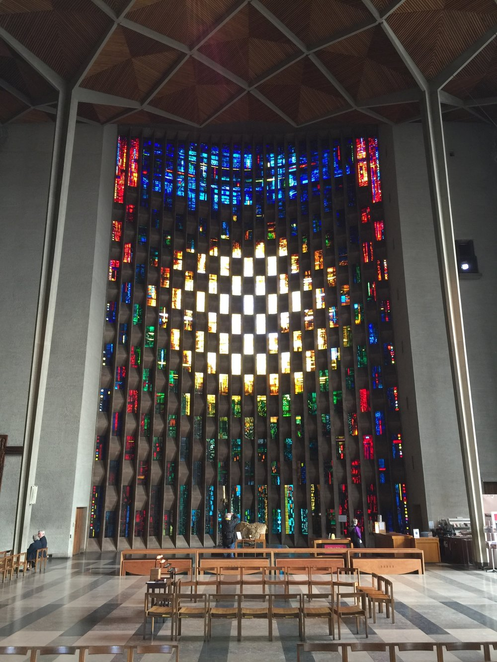 coventry cathedral stained glass main window interior