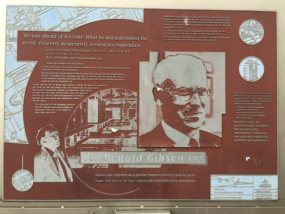 architect donald gibson display information upper precinct coventry