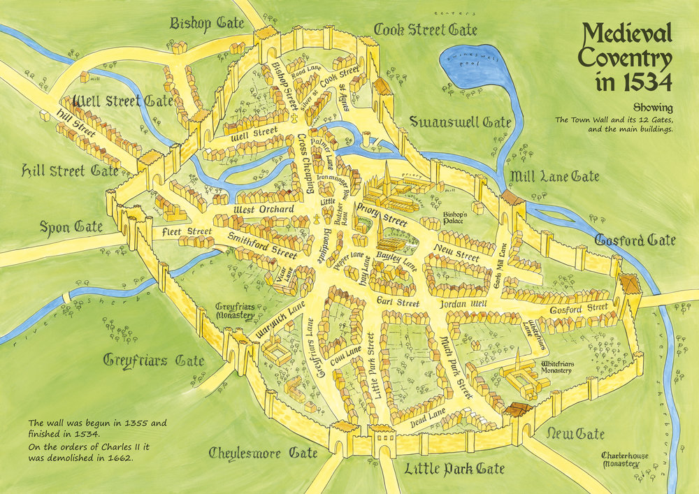 medieval coventry in 1534
