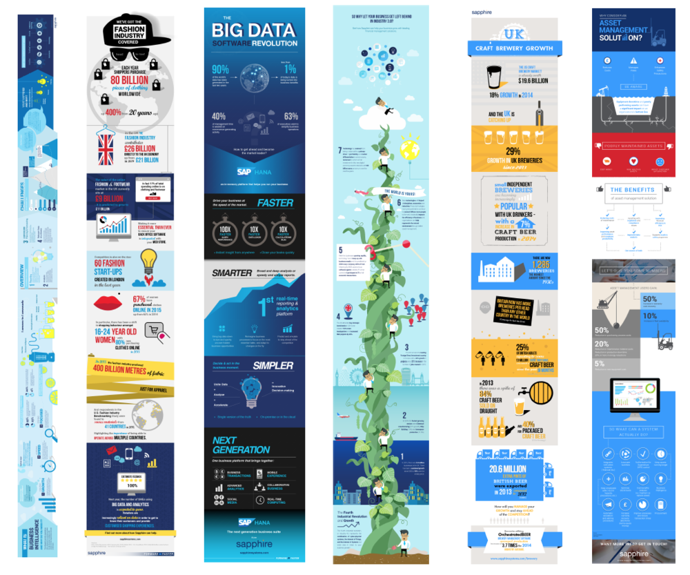 Series of Infographics design