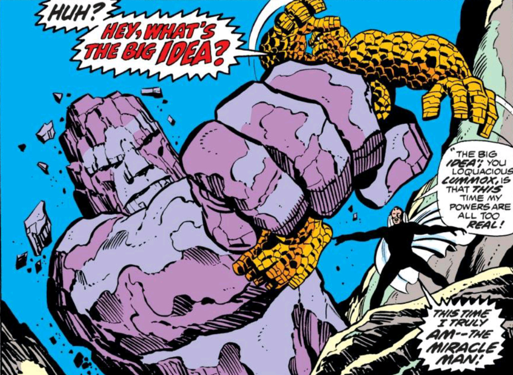 From Fantastic Four #138 by Gerry Conway, John Buscema, Joe Sinnott, Petra Goldberg, and John Costanza
