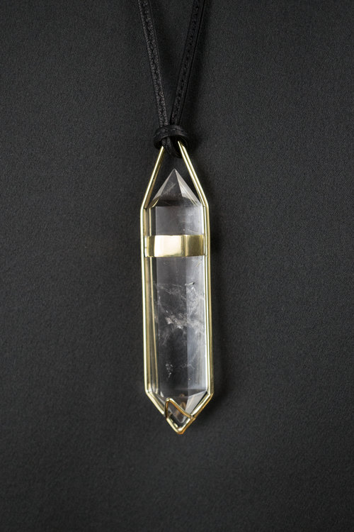 Large quartz pendant lorae russo large quartz pendant aloadofball Gallery