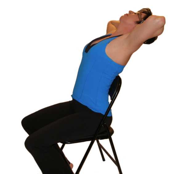 Make sure your chair is not going to roll backward when you perform this exercise.