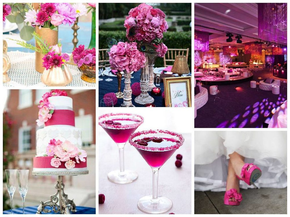 Pantone's color for 2014 Radiant Orchid (fuchsia)