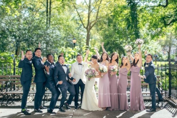 Leslie Te Rich Martirez wedding party