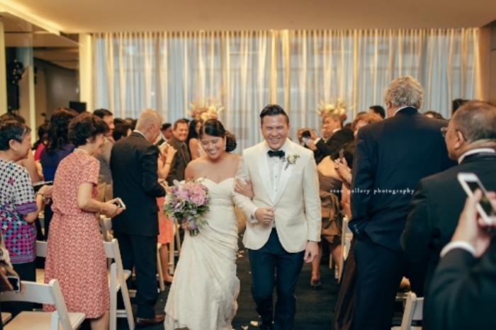 Leslie Te Richard Martirez wedding ceremony