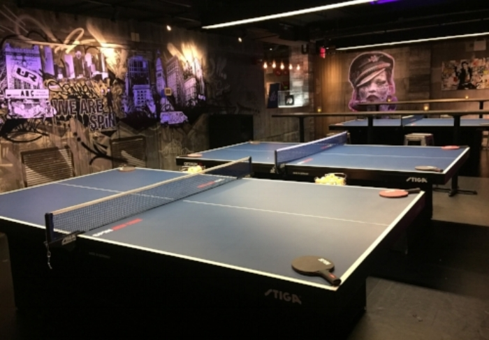 ping pong tables spin ny