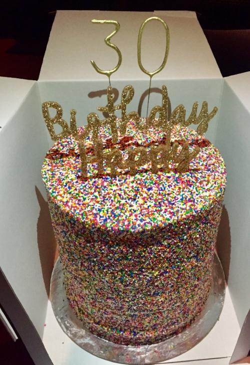 Flour Shop candy explosion cake