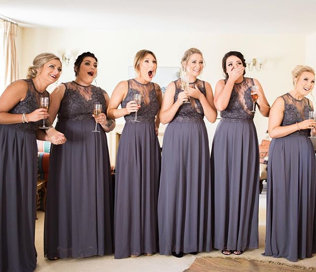 When R's bridesmaids saw her dress for the first time - I love their reactions!  _________________________________  __________________________________  #somersetweddingphotographer #weddingphotographer #bridetobe #weddingportrait #brideandgroom #justmarried #makemoments #portraits_ig #photobugcommunity #theknot #wedphotoinspiration #bridesquad #bridesmaids #henparty #bridesmaiddresses #firstlook #maidofhonor