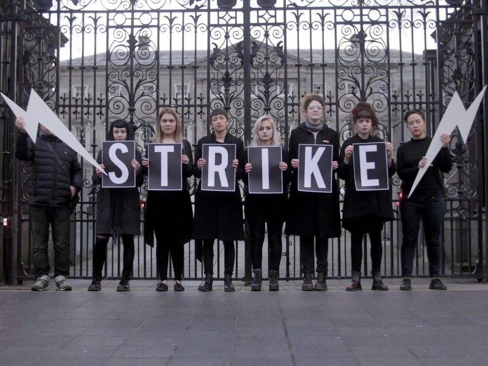 IRISH WOMEN GO ON STRIKE OVER THE ABORTION BAN