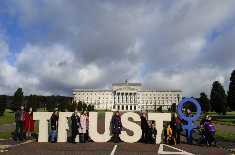 Campaigners and MLAs at Stormont in 2016.    Photo credit: Alliance for Choice