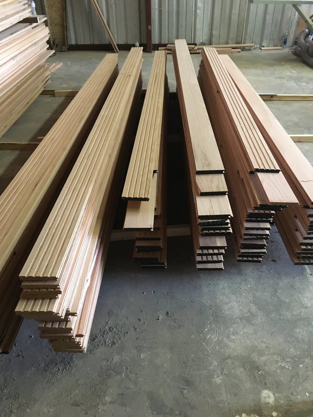 """We cut and build custom hardwood 3""""x5"""" planks from 8ft - 16ft"""