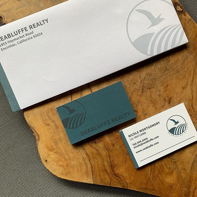 Stationary set for Seabluffe Realty. Custom vacation rental reservation system and real estate sales website coming soon!  Love working with the locals. #leucadialife #elevatingbrands #graphicdesigner #webdesigner #brandingagency #gingerhilldesign #suedebusinesscards