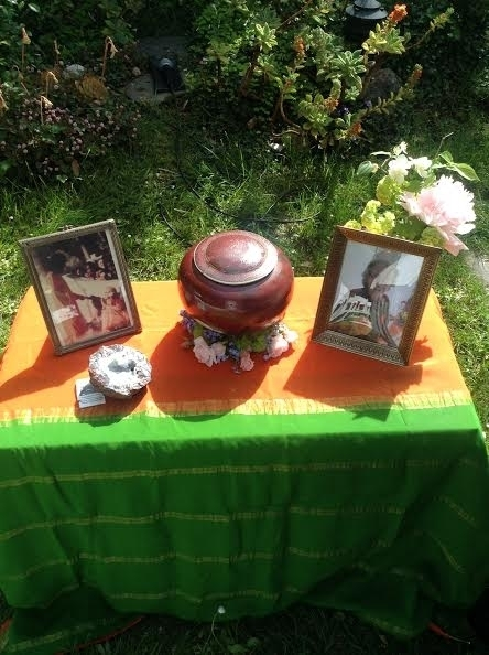 A beautiful Altar and Urn for Phyllis