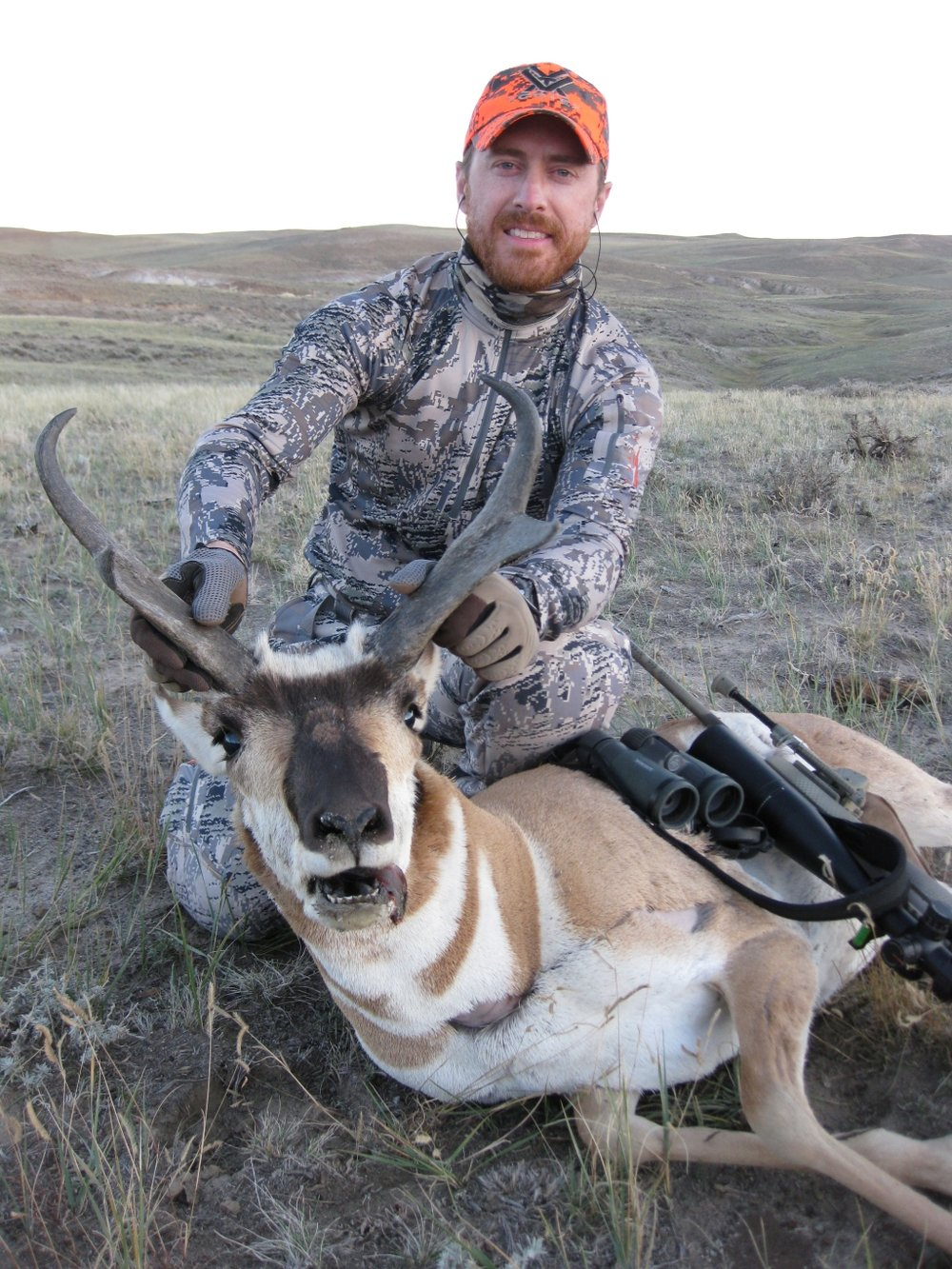 """Used my Kestrel knife on my antelope buck. This is the third animal that I've used the knife on and it works awesome. It's so light and thin you don't even know it's in your pack. The other thing I really like is that it's so simple…no folding mechanism or blades to cut yourself on while changing them out (Havalon!) but enough mass behind the blade to really carve against bone, pry with, or whatever. Kestrel has it figured out…simple, effective, light, and cutting edge (pun intended)""  David Hamilton Vortex Optics"