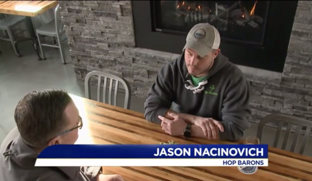 Watch Hop Barons founder, Jason Nacinovich, discussing the PA Farm Show with WNEP