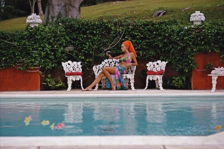 """""""Lounging in Bermuda"""" By Slim Aaron"""