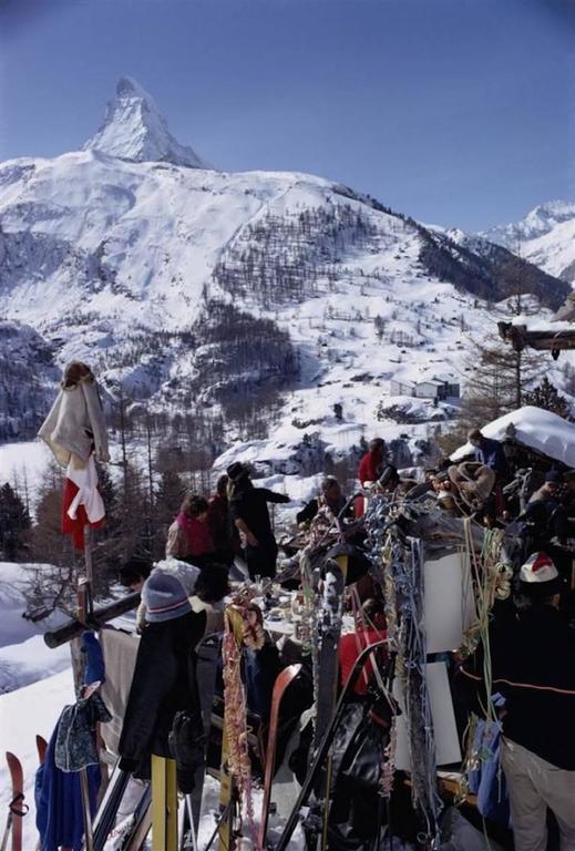 """""""Zermatt Skiing"""" By Slim Aaron"""